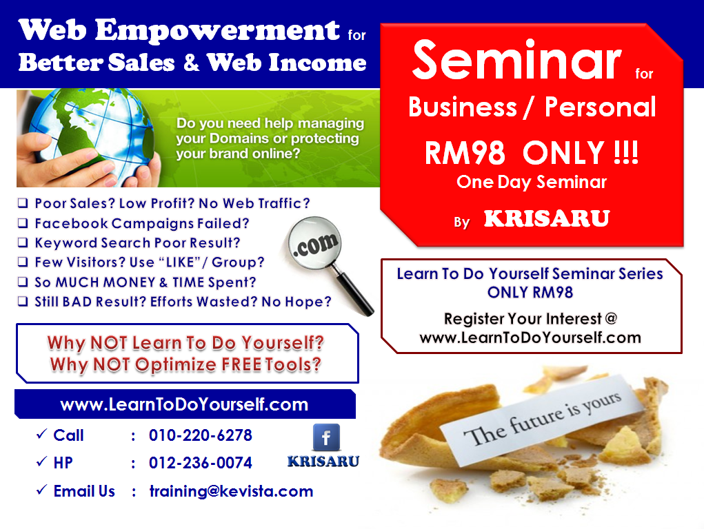 Seminar on Web Empowerment for Better Sales and Web Income
