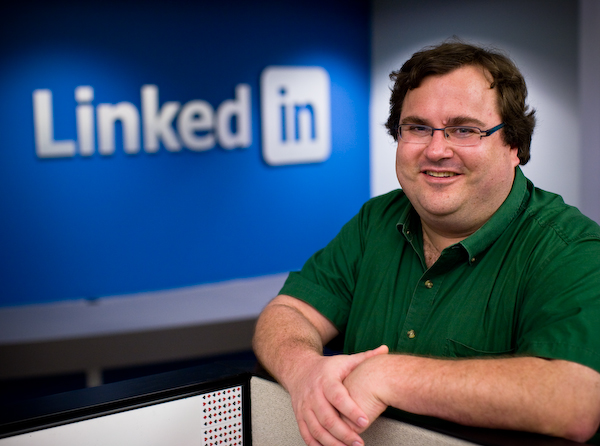 LinkedIn Co-Founder Reid Hoffman is sitting on top of the digital world.