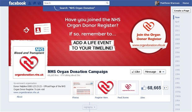Facebook is reportedly set to expand its organ donor initiative to Asia